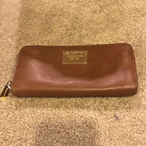Michael Kors zip around wallet